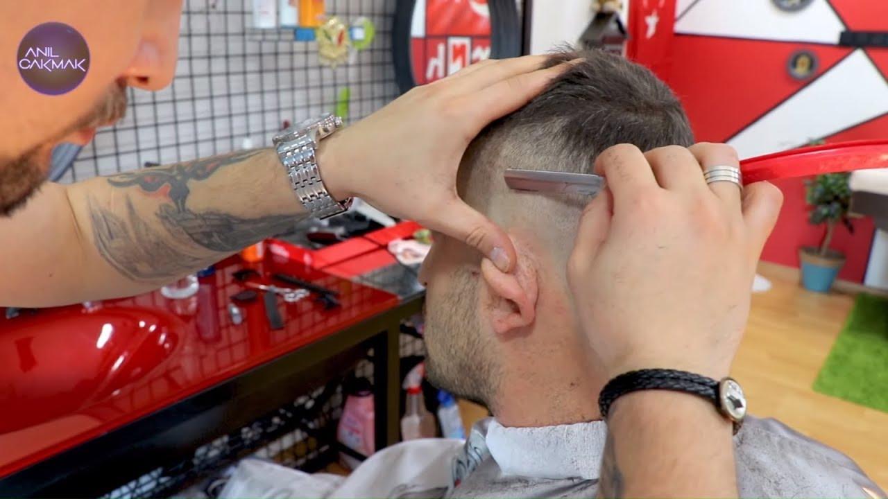 ASMR BARBER haircut | HAIR TRIM, SCISSORS.. RAZOR asmr SOUNDS AT MY asmr BARBER SHOP