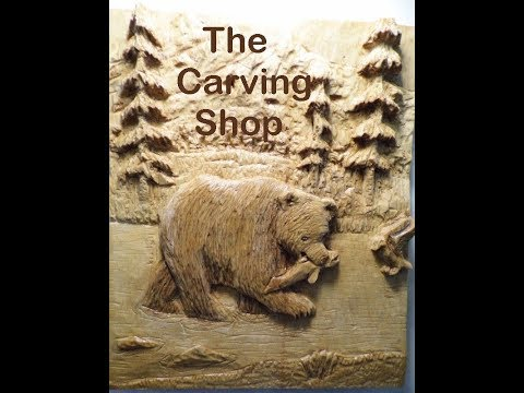 Relief Carved Bear