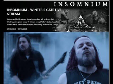 "Insomnium to livestream a performance of 2016 album ""Winter's Gate"" ..!"