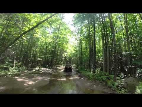 July 2015 Pembine loop atv trail, Wi, can am and honda