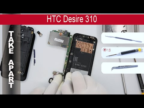 How to disassemble 📱 HTC Desire 310 0PA2100 Take Apart, Tutorial