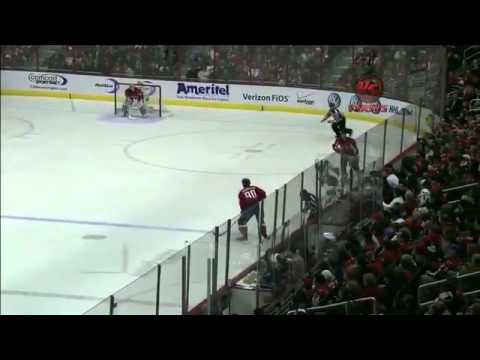 NHL: Andrew Gordon Kisses Marcus Johansson 12/21/10