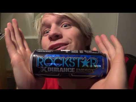 Kristofer Tasting ROCKSTAR X DURANCE ENERGY BLUEBERRY POMEGRANATE ACAI ENERGY DRINK B-VITAMINS