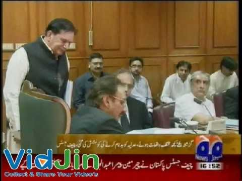 CJ Iftikhar Chaudhry Angry With Chairman Pempra After Watching Malik Riaz Planted Videos