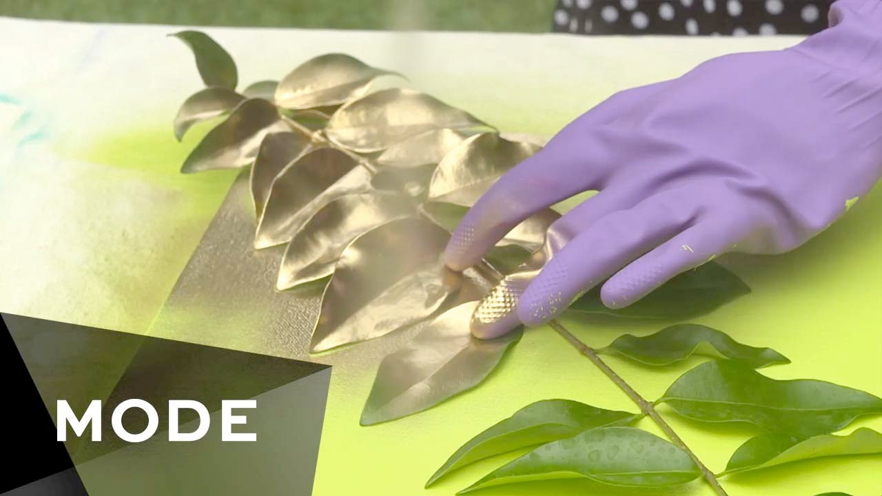 Diy leaf art that you can do at home glam it yourself youtube solutioingenieria Images