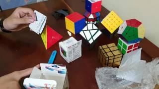 trung hiếu mở hộp rubik z cube pyraminx v qiyi square 1