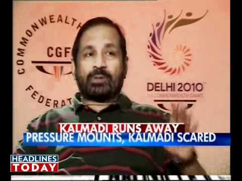 Kalmadi walks out of TV interview. Part 1 of 8