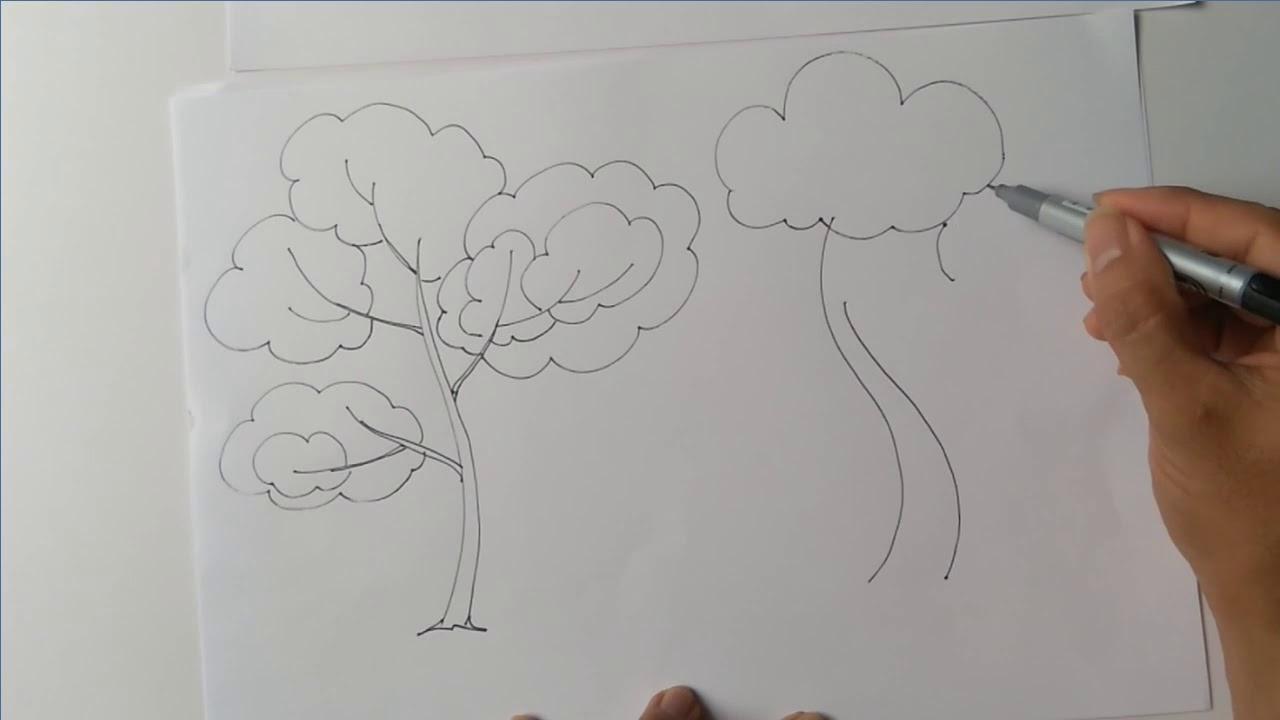 TH Mỹ thủy – Mĩ thuật – k1- T26 – Vẽ cây đơn giản