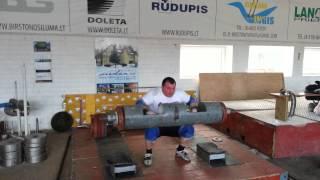 Саулиус Брусокас эстафета: 100кг, 135кг,145 кг и 75 кг ,KRINICA CUP-2014.
