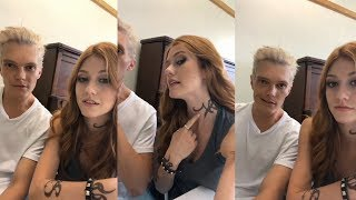 katherine mcnamara instagram live stream 23 july 2018