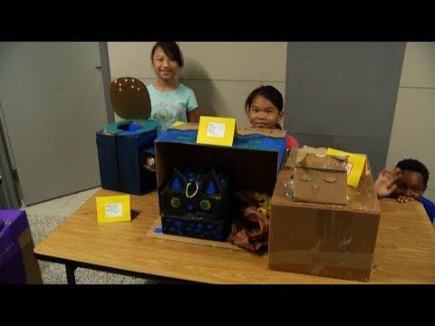 Zanewood Community School gets creative with cardboard