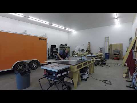 5 minutes to install non-skid floor in The Smart Woodshop