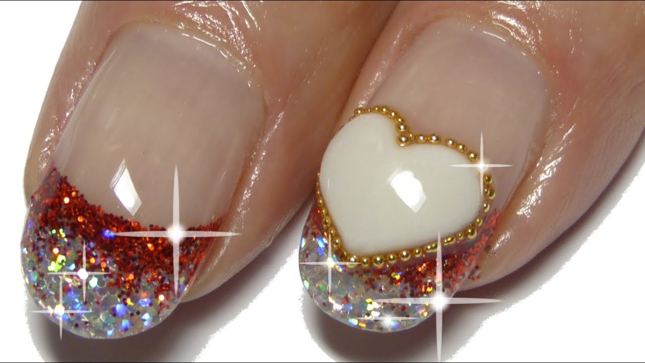 How to - 3D heart - Acrylic nails - YouTube