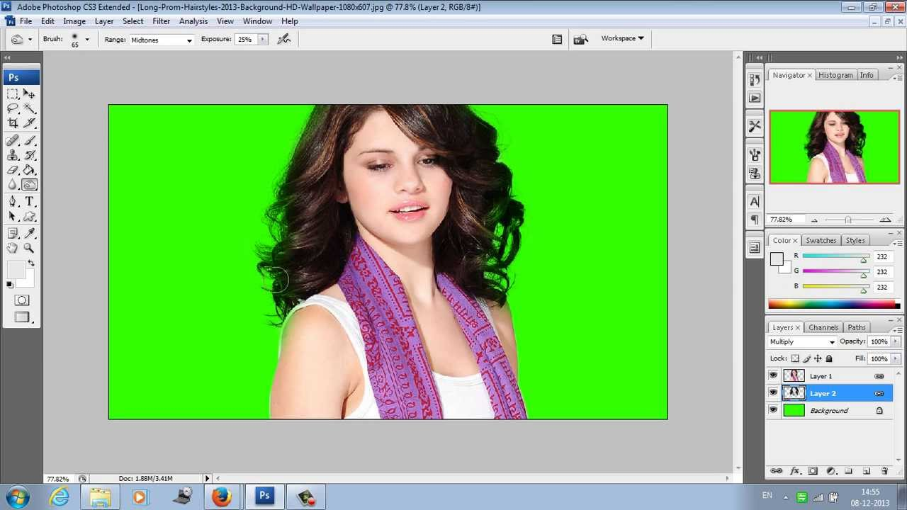 Adobe Photoshop Hair Cutting in tamil tutorial - YouTube