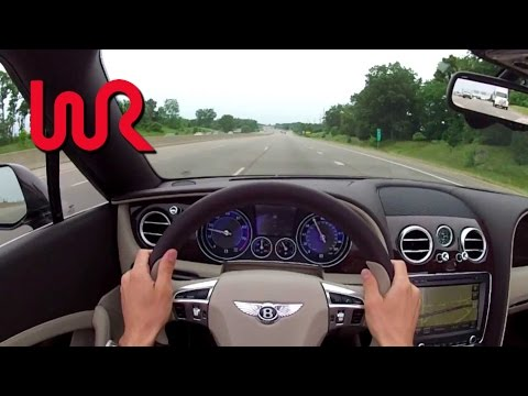 2013 Bentley Continental GTC V8 WR TV POV Test Drive