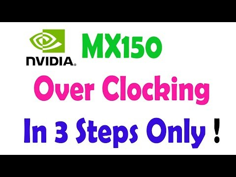 How to Overclock MX150 Graphic Card of Acer Aspire 5 in 3