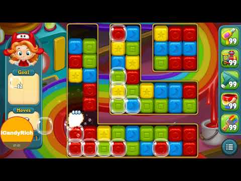 Toy Blast Level 146 Game Puzzle Boosters Gameplay iCandyRich