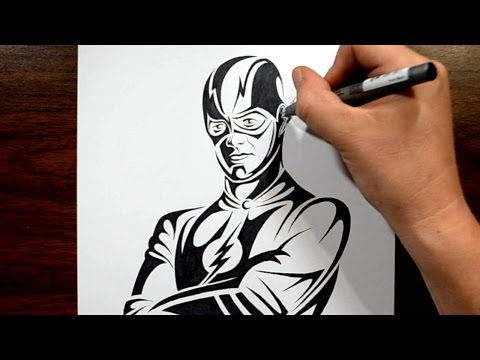 How to Draw the Flash in Tribal