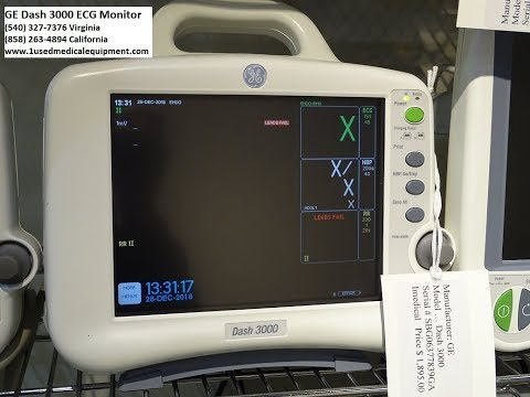 GE Dash 3000 ECG Patient Monitor