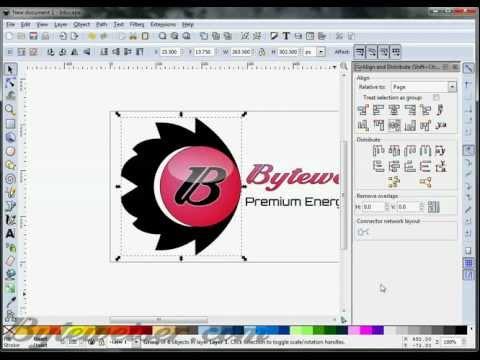 Byteweiser Inkscape Tutorial #1:  Making a Logo