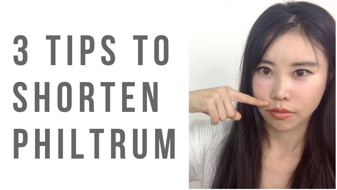 3 Face Yoga exercises/tips to shorten philtrum