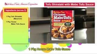 Tofu Shirataki With Mabo Tofu Sauce
