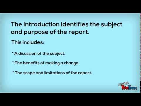 How to write a reports
