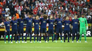 Manchester United and Ajax remember attack victims before Europa League final