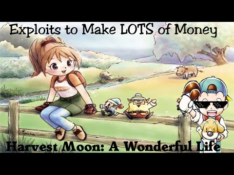 Harvest Moon A Wonderful Life Series - How to Make LOTS of Money!