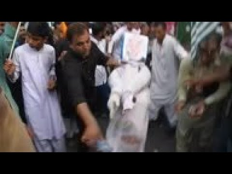 Kashmiri group stages anti-India protest