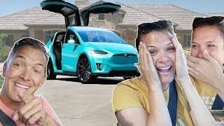 I SURPRISED my wife with a TESLA! bought a TESLA for $50!