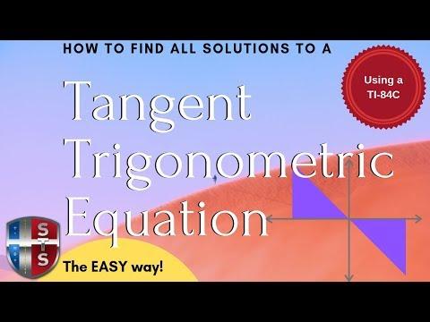 Math Analysis - Trigonometric Equation - Find all solutions - Tangent