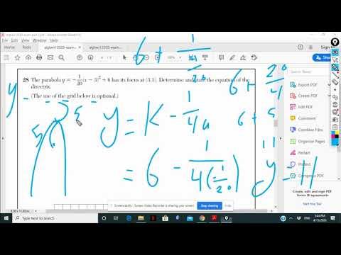 Algebra 2 Regent January 2020 Part 2 - YouTube