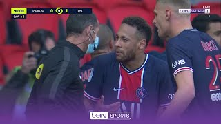 Angry Neymar SENT OFF for TWO violent confrontation vs Lille   Ligue 1 20/21 Moments