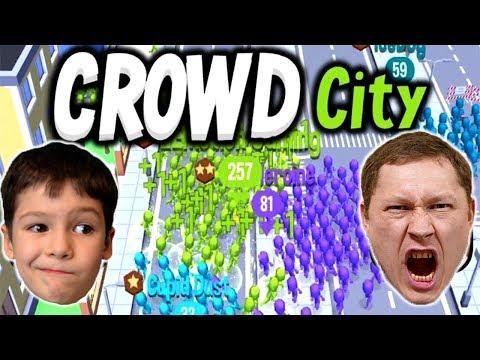 ТОЛПА НА ТОЛПУ кто кого сожрет в игре CROWD CITY I #ПриветКамера