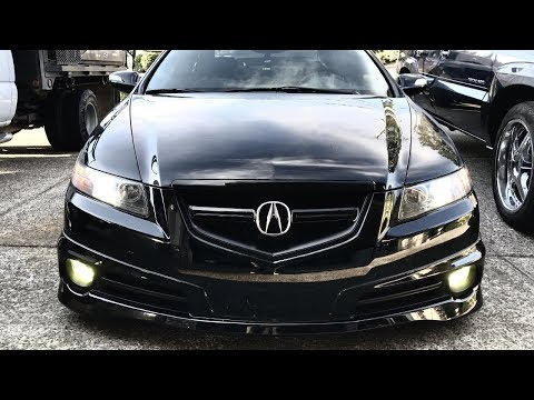 Wicked Blacked Out Acura TL Type S Front End