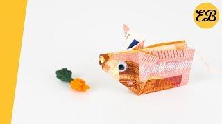 Geldschein falten Schwein - Geldgeschenke basteln - Geld falten