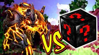 MONSTRO DE LAVA VS. SUPER LUCKY BLOCK (MINECRAFT LUCKY BLOCK CHALLENGE)