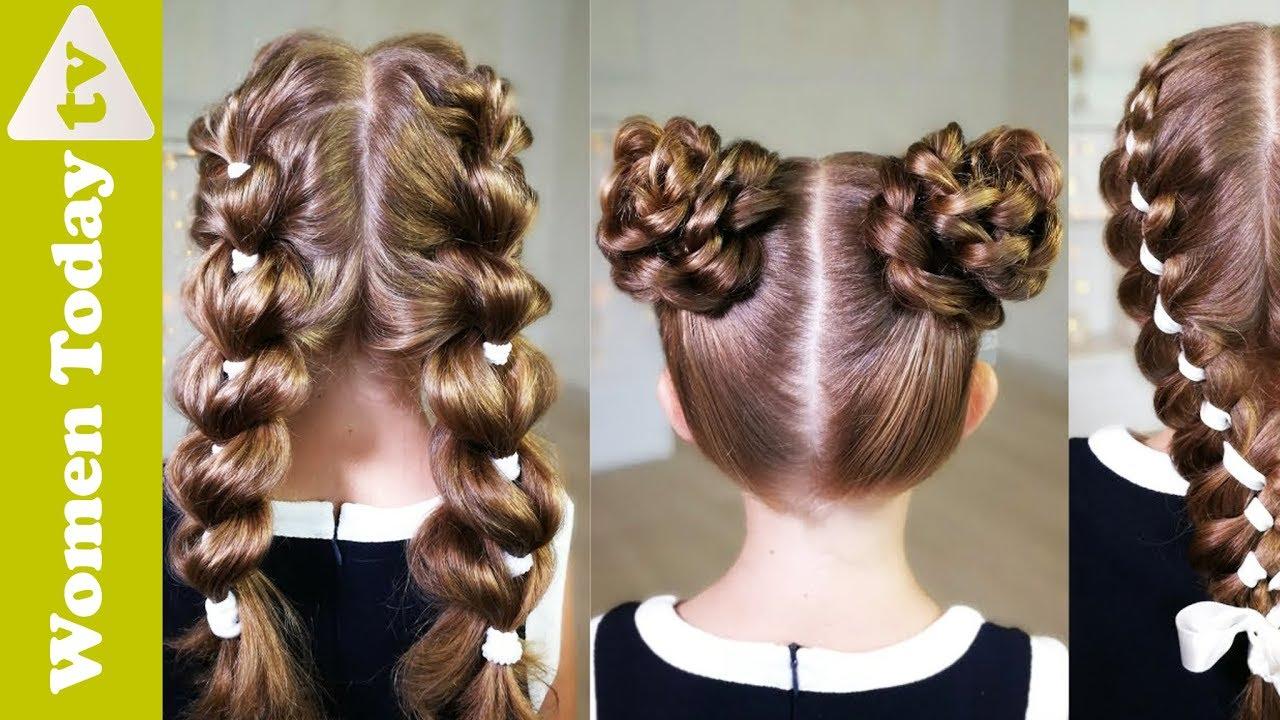 Hướng Dẫn Các Kiểu Tóc Đẹp Cho Bé Gái Đến Trường | Cute Hairstyles For Little Girls.