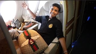 15 year old flys on 30 000 first class flight