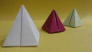 Kağıttan piramit yapımı