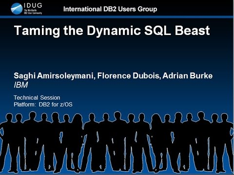 IDUG Teck Talk: Taming the Dynamic SQL Beast