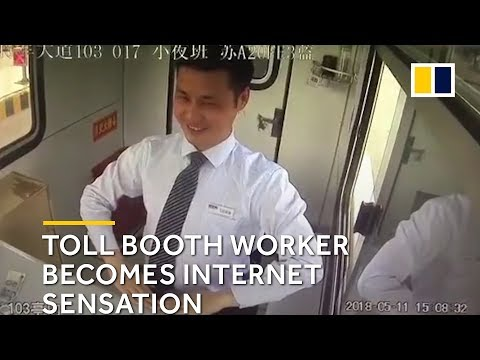Robot-like Chinese toll booth worker becomes an internet sensation