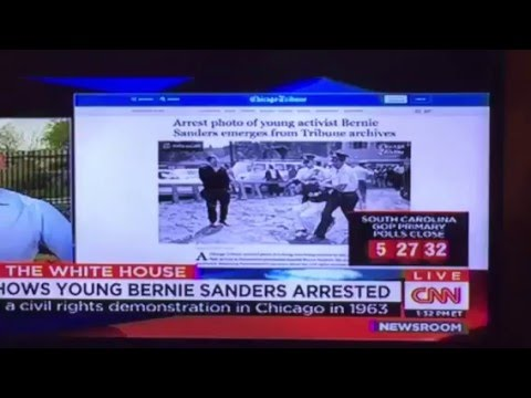 Bernie Sanders Was Arrested In Civil Rights Demonstration In 1963