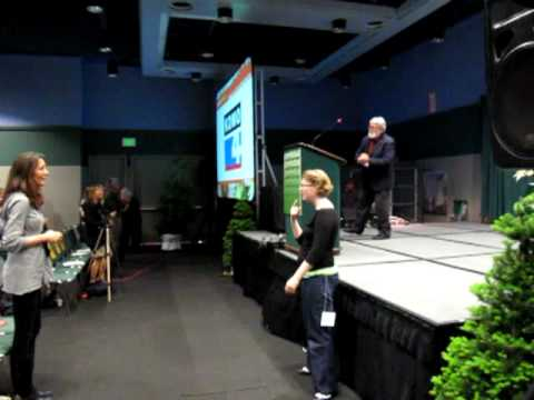 David Korten dancing at Green Festival Seattle 2010