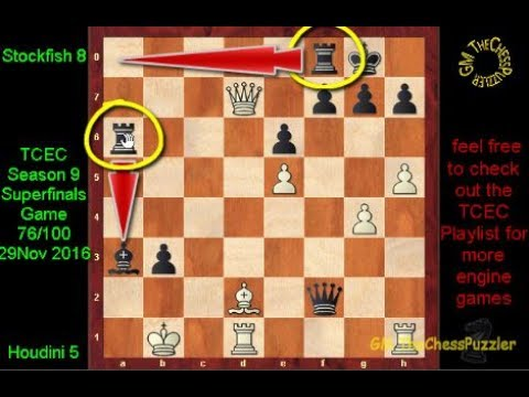 Stockfish's Caro-Kann Knight Sacrifice To Break Open Houdini's Queenside Castle  Game 76 TCEC 16