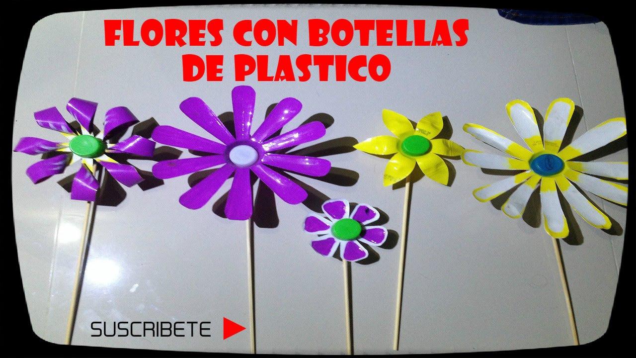 Flores con botellas de plastico youtube - Flores de plastico ...
