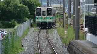 御坊駅に到着する紀州鉄道KR205