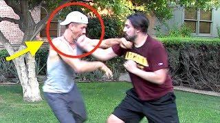 White Belt vs Black Belt - Punch to the Face!