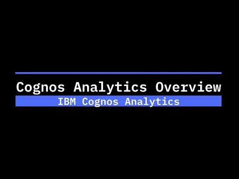 What is new and what is coming in Cognos Analytics? - IBM